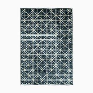 Vintage Moroccan Blue Rug