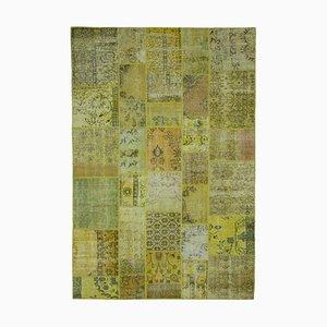 Vintage Yellow Patchwork Rug