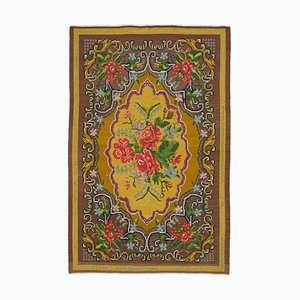 Vintage Moldovan Brown Kilim Rug