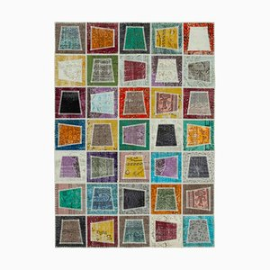Vintage Multicolor Modern Patchwork Rug