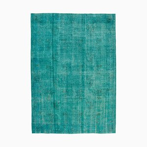 Vintage Turquoise Overdyed Rug