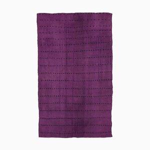 Vintage Turkish Purple Kilim Rug