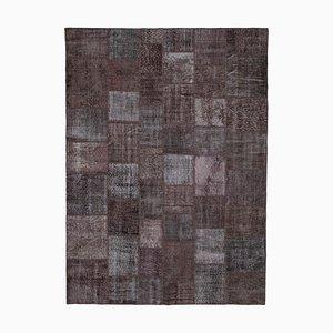 Vintage Brown Patchwork Rug