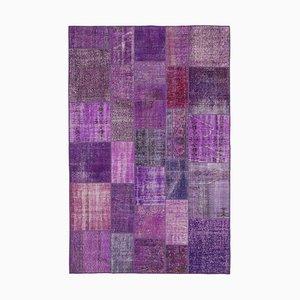 Vintage Purple Patchwork Rug