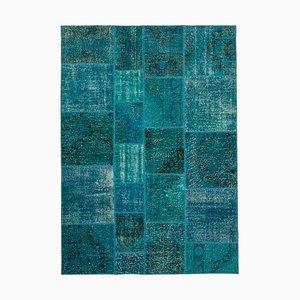 Vintage Turquoise Patchwork Rug