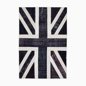 Vintage Uk Flag Patchwork Rug