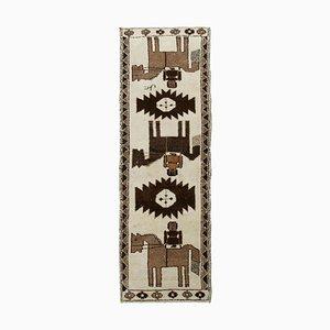 Vintage Beige Boho Runner Rug