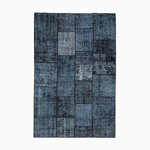 Vintage Black Patchwork Rug