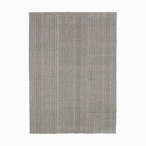 Vintage Gray Modern Kilim Rug