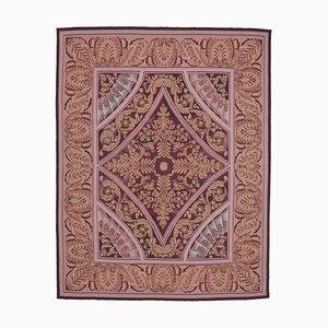 Vintage Pink Aubusson Kilim