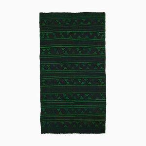 Vintage Turkish Green Kilim Rug