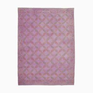 Large Vintage Purple Overdyed Area Rug