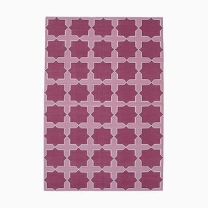 Vintage Purple Dhurrie Rug