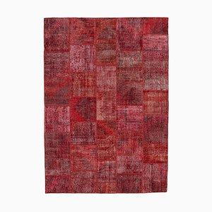 Vintage Red Patchwork Rug