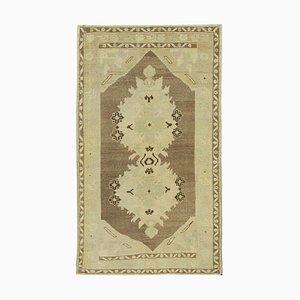 3x5 beigefarbener anatolischer Vintage Teppich 10082