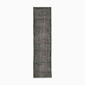 Vintage Grey Overdyed Runner Rug