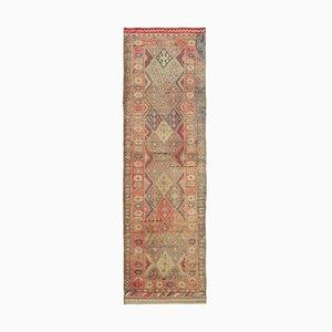Vintage Brown Boho Runner Rug