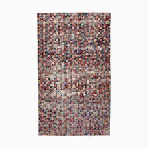 Roter Böhmischer Vintage Teppich