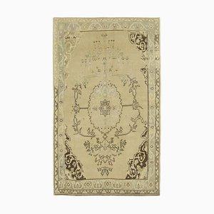 Anatolischer 5x9 Beigefarbener Vintage Teppich 10012