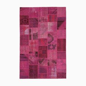 Pink Patchwork Rug