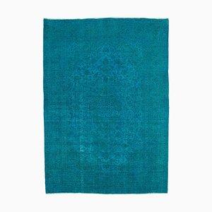 Turquoise Overdyed Large Area Rug