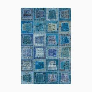 Blue Patchwork Rug