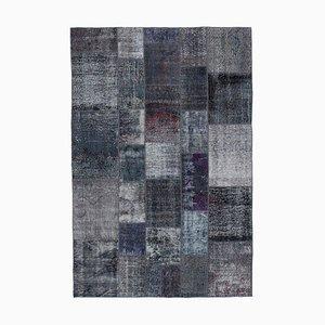 Grey Patchwork Rug