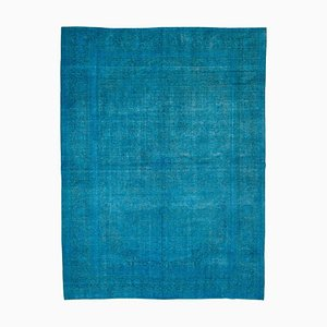 Blue Overdyed Large Area Rug