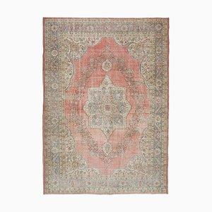Red Turkish Vintage Area Rug