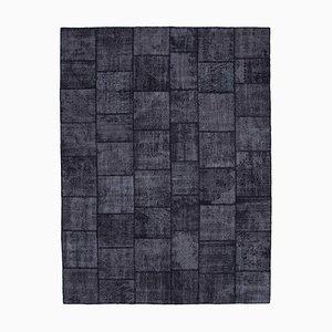 Black Patchwork Rug