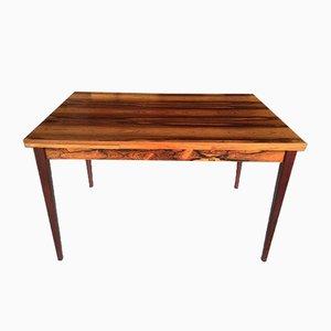 Tavolo da pranzo in legno rosso, anni '60