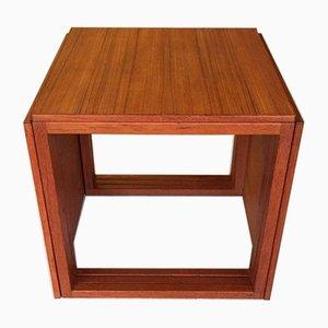 Mid-Century Modern Danish Teak Cube Nesting Tables
