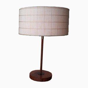 Lampada da tavolo in noce e teak di Kaiser, anni '50