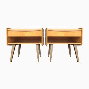 Danish Minimalist Teak Bedside Tables, Set of 2