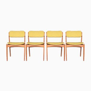 Danish Teak Model 49 Chairs, 1950s, Set of 4