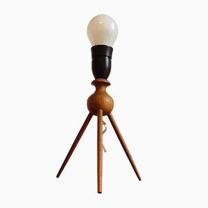 Dänische Minimalistische Teak Tischlampe von Severin Hansen, 1960er