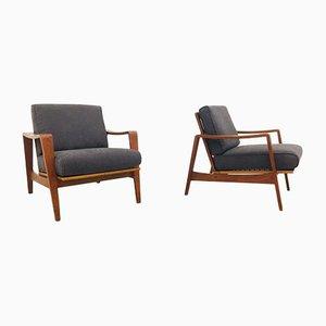 Teak Lounge Chairs by Arne Wahl Iversen for Komfort, Denmark, Set of 2
