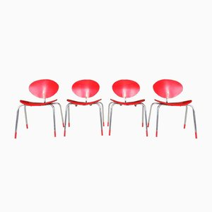 Red Stacking Chair by Elmar Flötotto