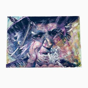 Franke Gallery, Keith Richards Rolling Stones, Art Canvas Acrylic & Painting