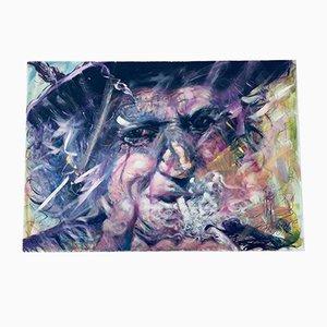 Franke Gallery, Rollende Keith Richards Steine, Acryl auf Leinwand Gemälde