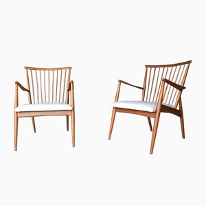 Lounge Chairs by Arno Lambrecht, 1950s, Set of 2