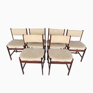 Chaises en Palissandre, Danemark, 1960s, Set de 6
