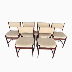 Dänische Palisander Stühle, 1960er, 6er Set