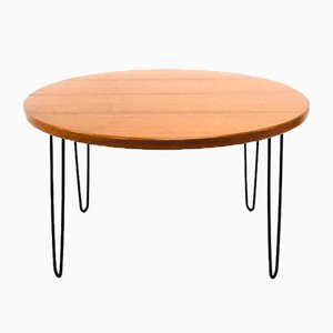 Large Round Teak Dining Table, 1960s