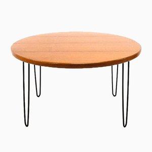 Tavolo da pranzo grande rotondo in teak, anni '60