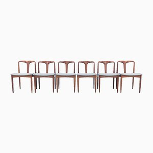 Danish Teak Juliane Chairs by Johannes Andersen, 1960s, Set of 6
