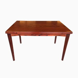 Red Stained Wood Dining Table by Henning Kjaernulf for Vejle Stéle