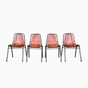 Les Arcs Chairs by Charlotte Perriand, 1950s, Set of 4