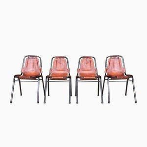 Les Arcs Stühle von Charlotte Perriand, 1950er, 4er Set