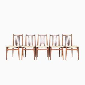 Mid-Century Teak Dining Chairs, 1950s, Set of 6
